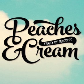 Peaches and Cream - Brush Script Font Family