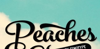 The Peaches and Cream script font family by Emil Karl Bertell of Fenotype.
