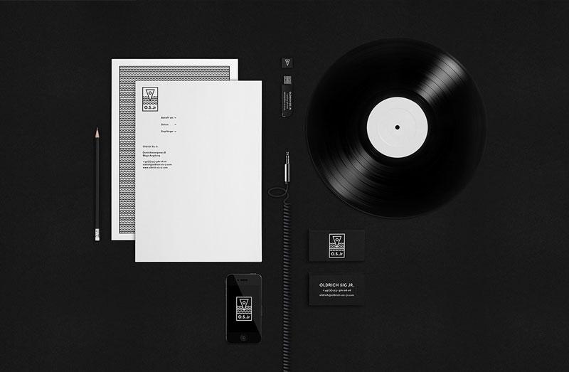 Branding and graphic design by Wir Sind Schoener for Czech Republic born Deep House DJ Oldrich Sic Jr.