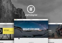 Eight Degree, a single page Parallax theme.