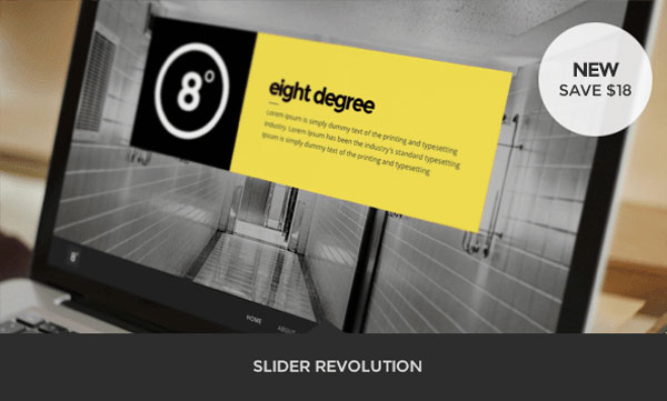 Eight Degree, an one page website with Slider Revolution.