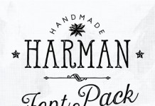 Harman, a handmade font collection by type designer Ahmet Altun.