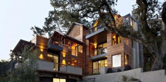 The Hillside House in Mill Valley, California by SB Architects.