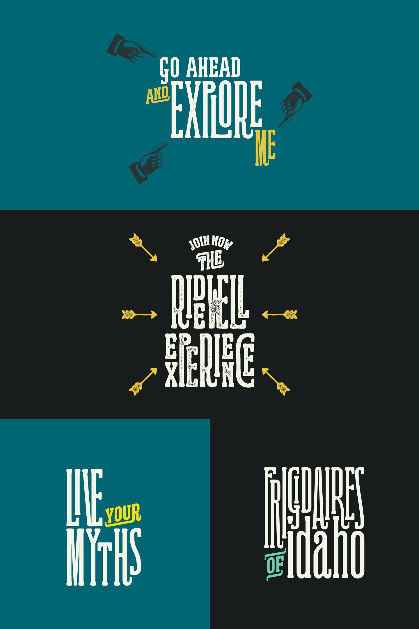 The Ridewell typeface by Kostas Bartsokas.