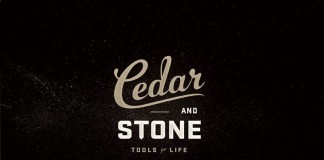 Cedar & Stone - vintage typography inspired logotype.