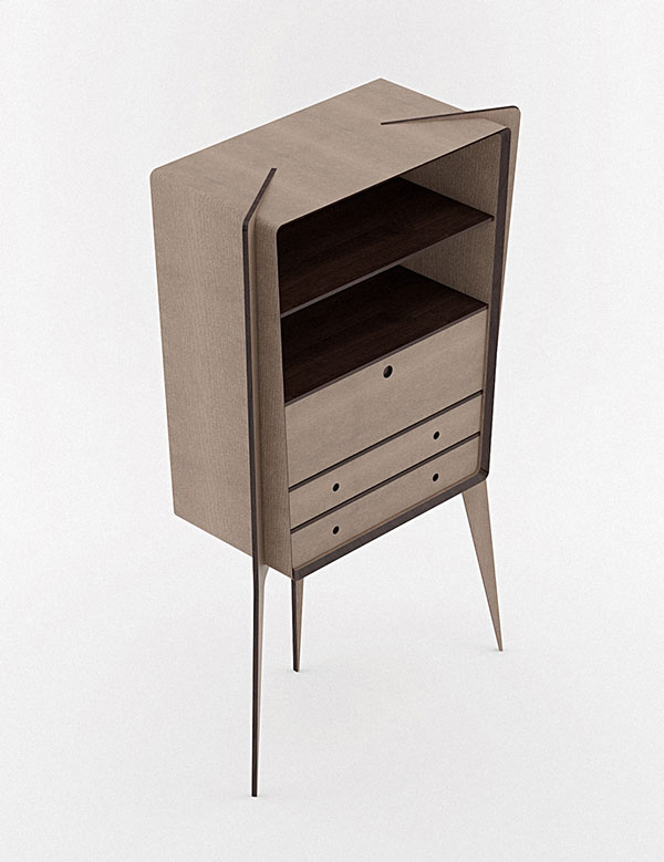 The Observe bookcase is based on a unique design.