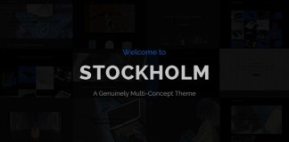 The Stockholm WordPress Theme.