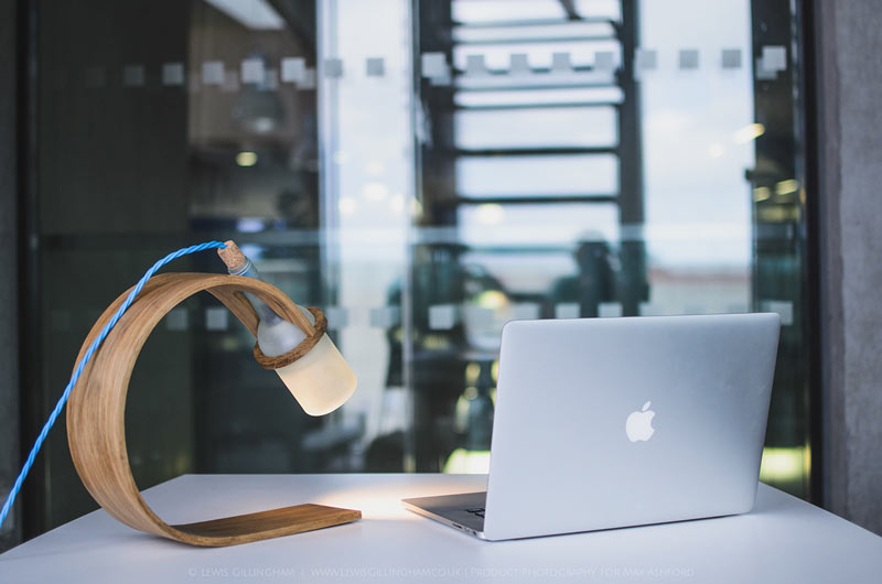 A stylish desk lamp concept.