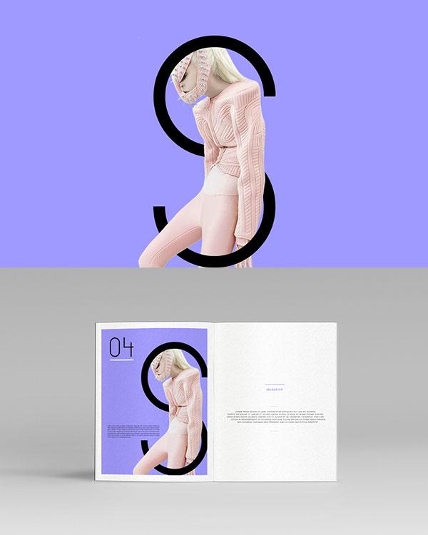 Brand imaging of the magazine.