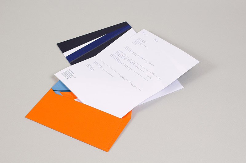 The stationery design by Build.