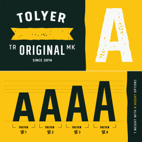 Tolyer Font Family by Typesketchbook