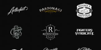 30 completely handlettered logotypes by Mateusz Witczak.