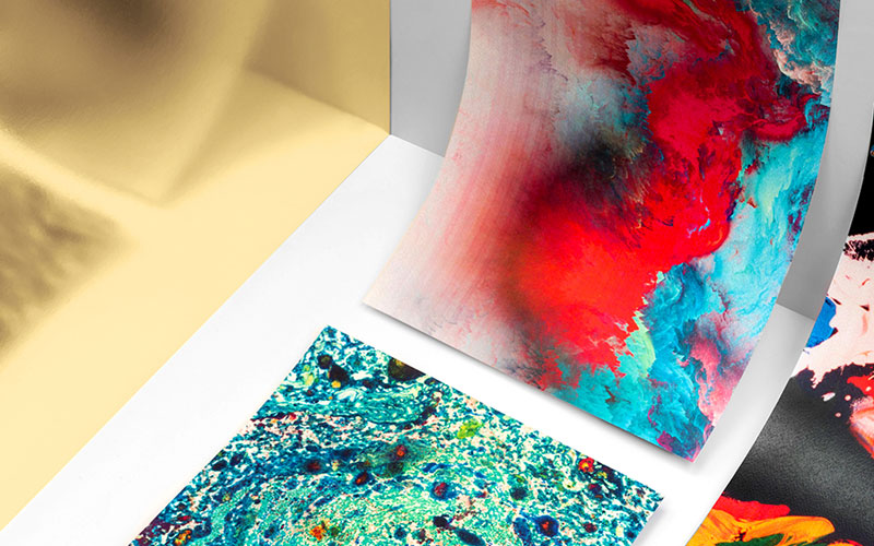 Colorful artworks.