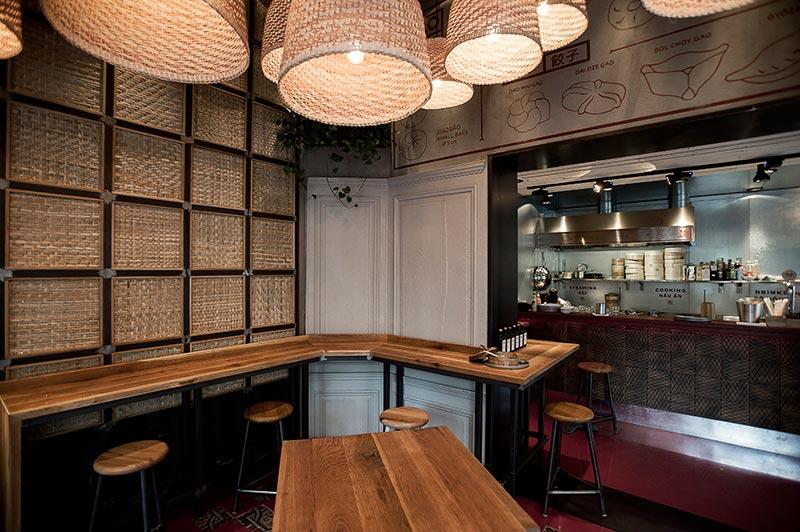 Dim sum bar BAOBAO - Restaurant interior design by 81font.