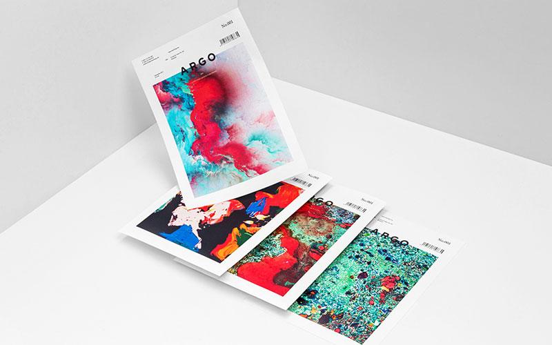 Branding materials of agency Argo.