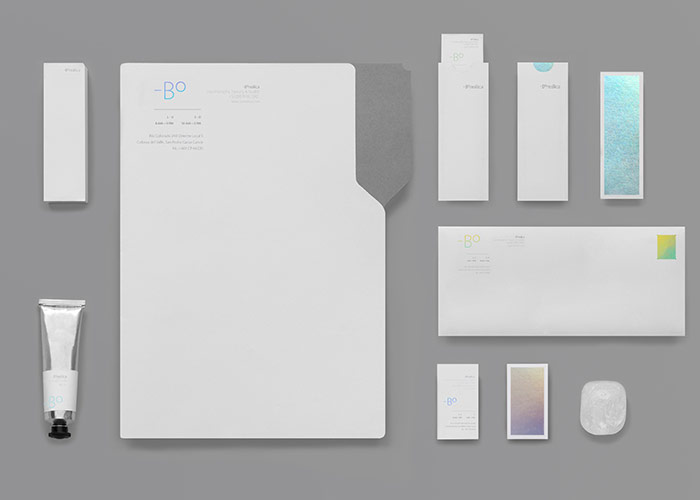 Clinic identity by Anagrama for Boreálica, a clinic that specializes in Whole Body Cryotherapy.