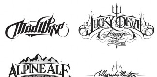 Hand drawn logotypes, marks, and custom letterings by Martin Schmetzer, a Stockholm based artist and graphic designer with main focus on hand-drawn typography.