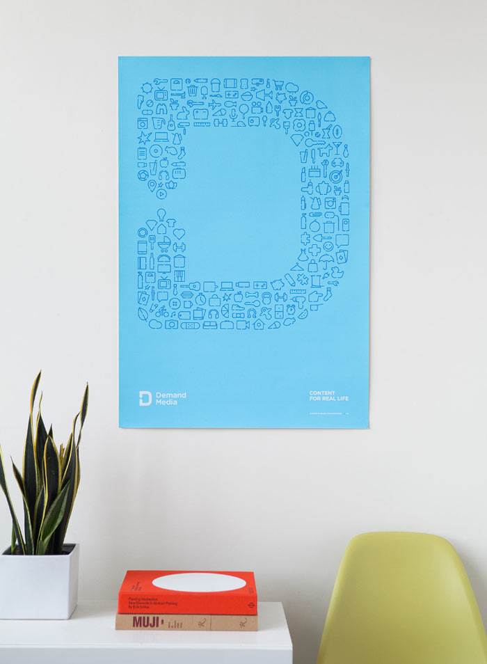 Light blue poster created by studio Manual.