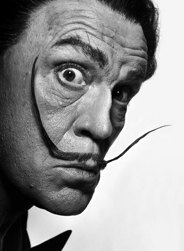 Malkovich as Salvador Dali by Sandro Miller (Original from 1954 by Philippe Halsman)