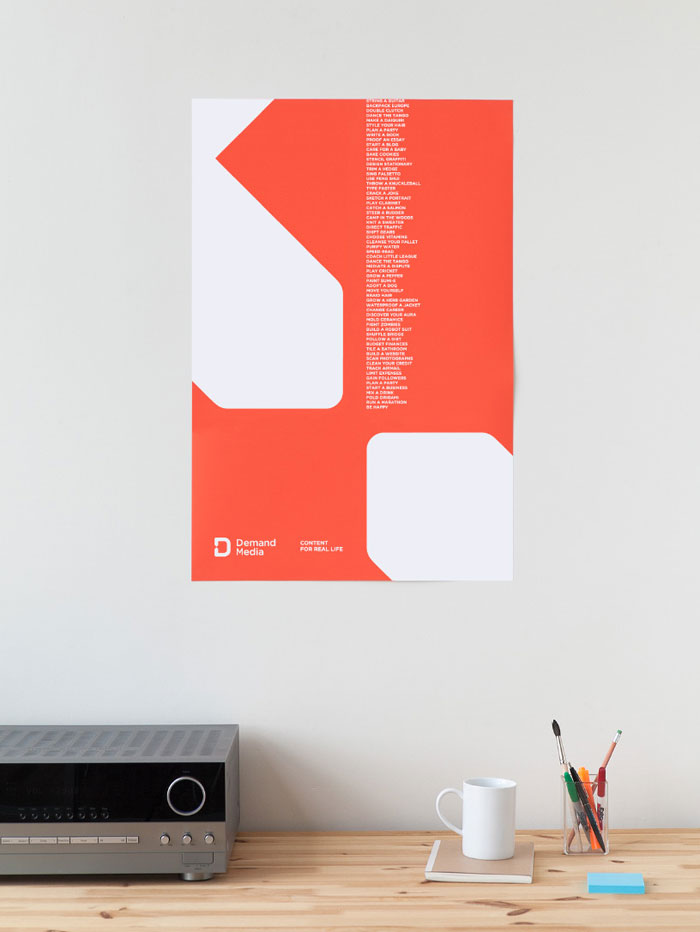 Minimalist red poster.