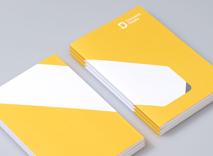 Notebooks with illustrated cover design.