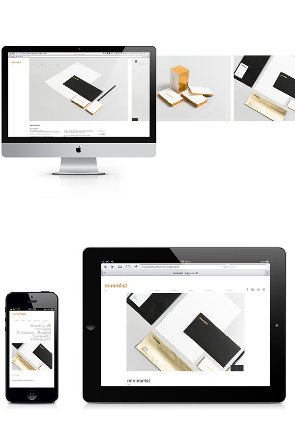 Simple and clean website design.