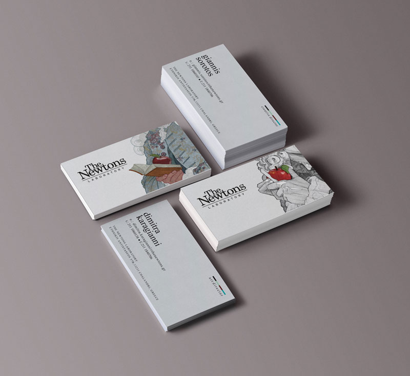 The Newtons Laboratory - business cards.