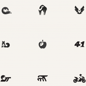 Negative Space Graphics by George Bokhua