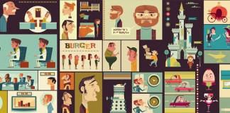 Spot illustrations created by James Gilleard for Cengage textbooks.