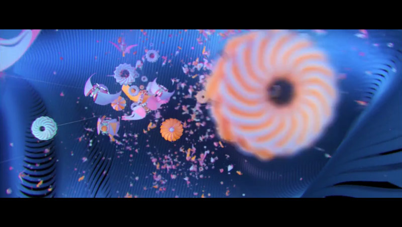 Still from the video Mothership by FutureDeluxe created in collaboration Twistedpoly.