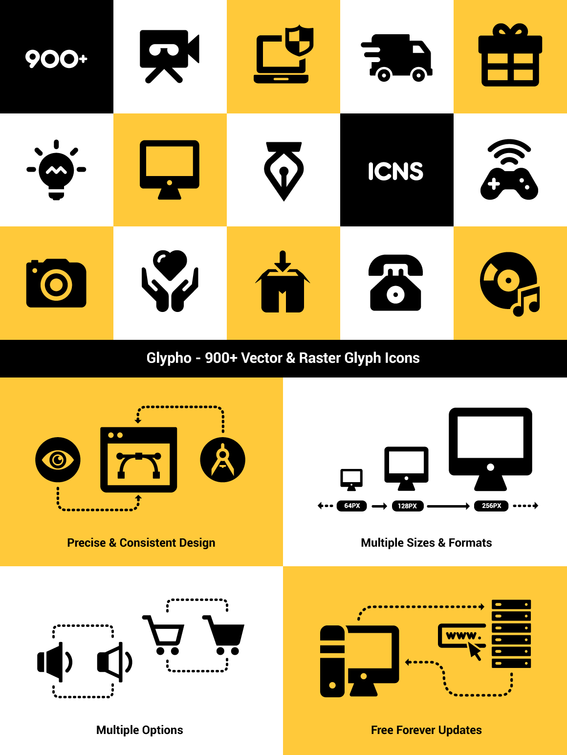 Glypho Icon Pack – 900+ Vector Glyphicons for Download