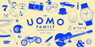 Uomo, a contemporary typographic system by Latinotype.