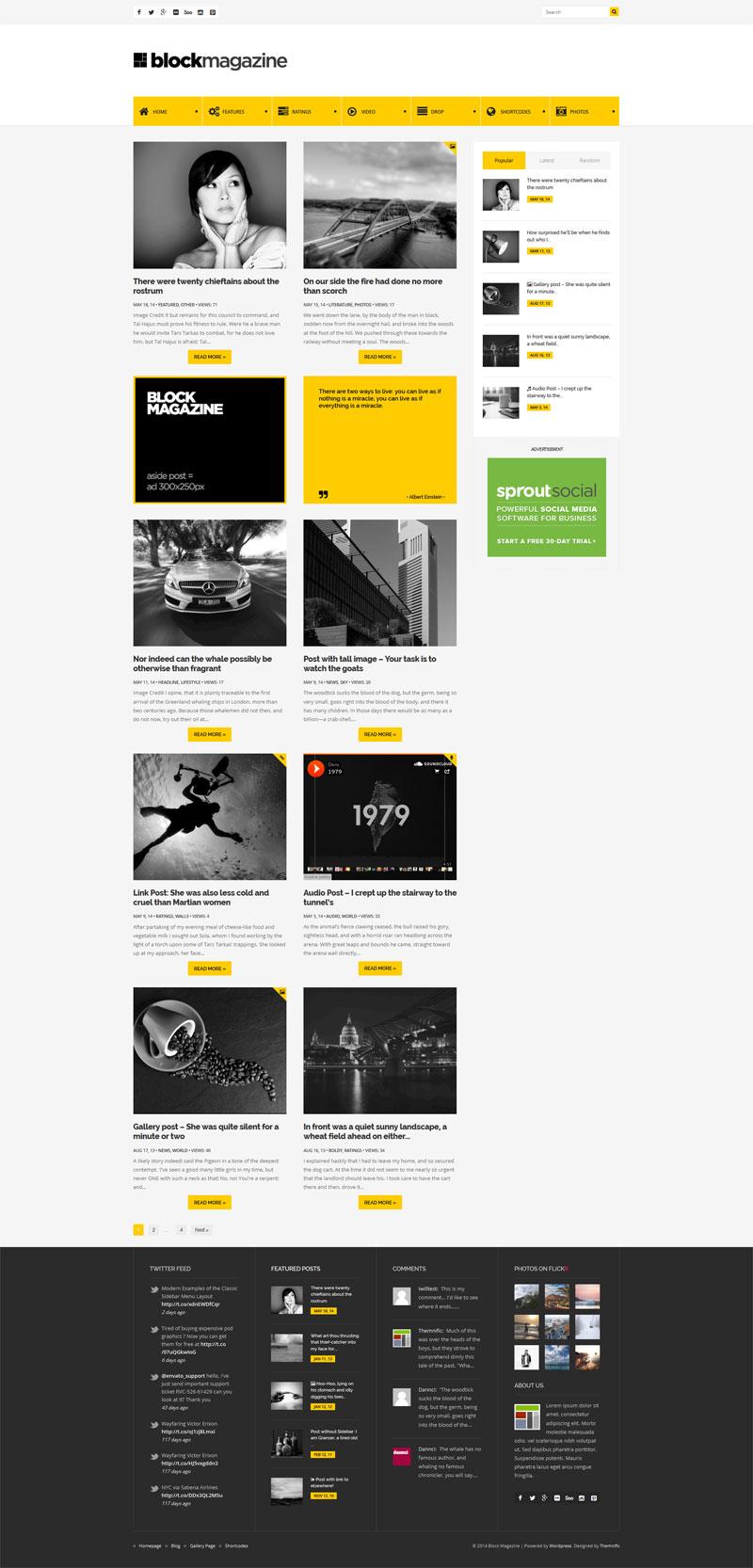 Block Magazine - flat, minimalist and responsive blog theme - stylish and modern blog layout.