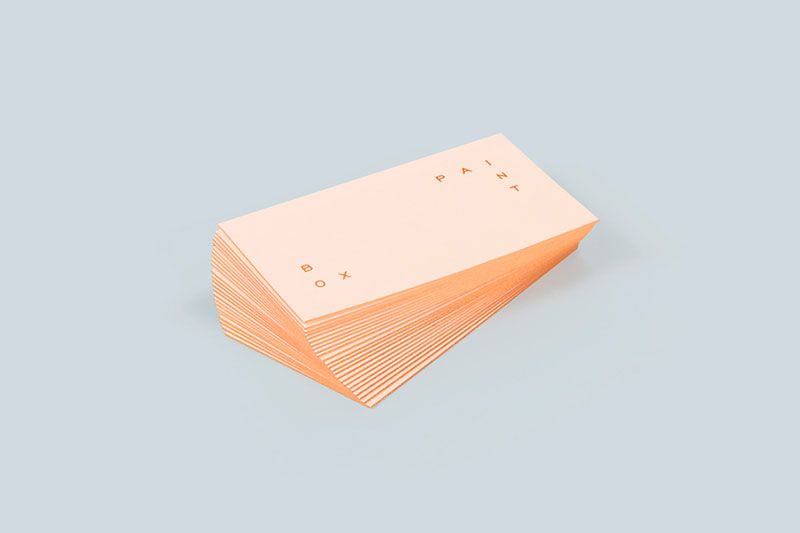 Clean and minimalist business cards.