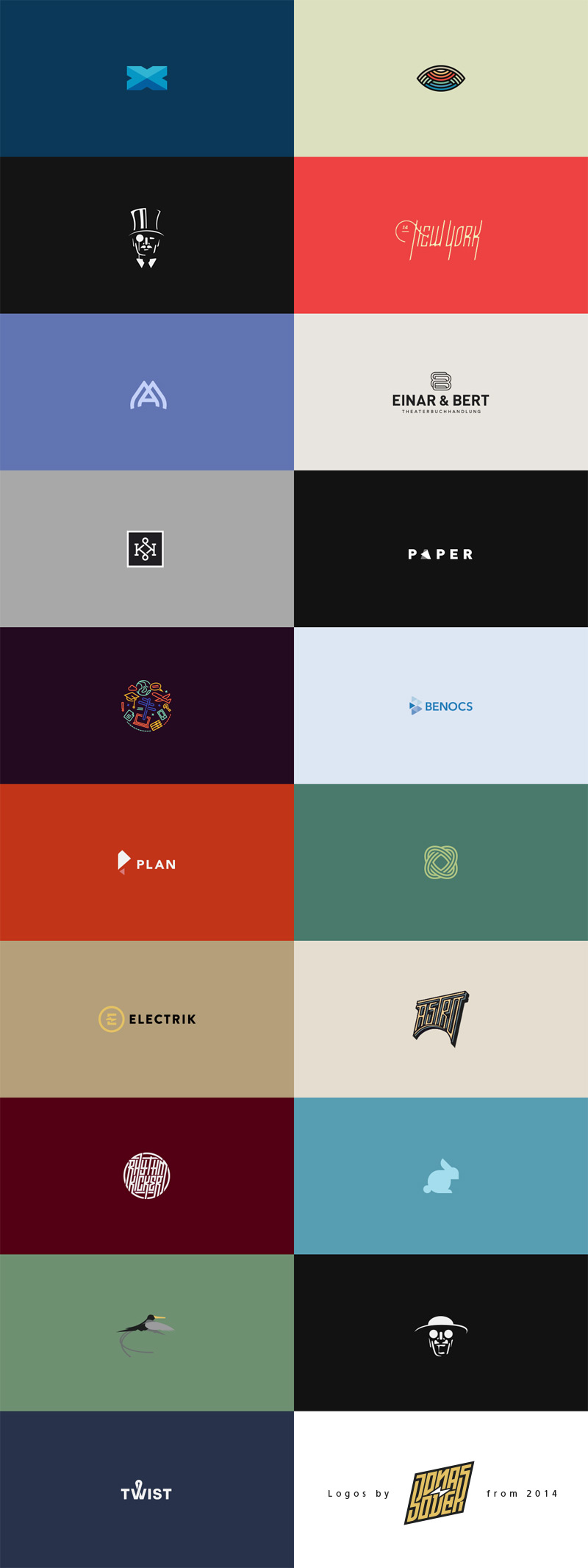 Logos from 2014 by Jonas Söder