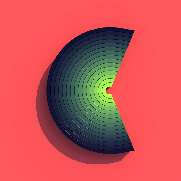 Letter C with nice color gradient.