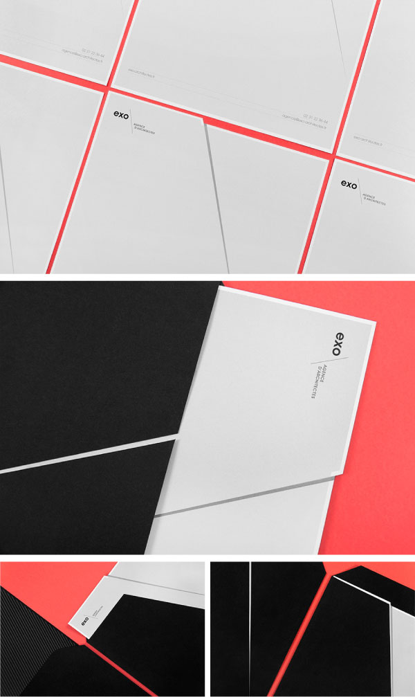 Stationery and visual identity design.