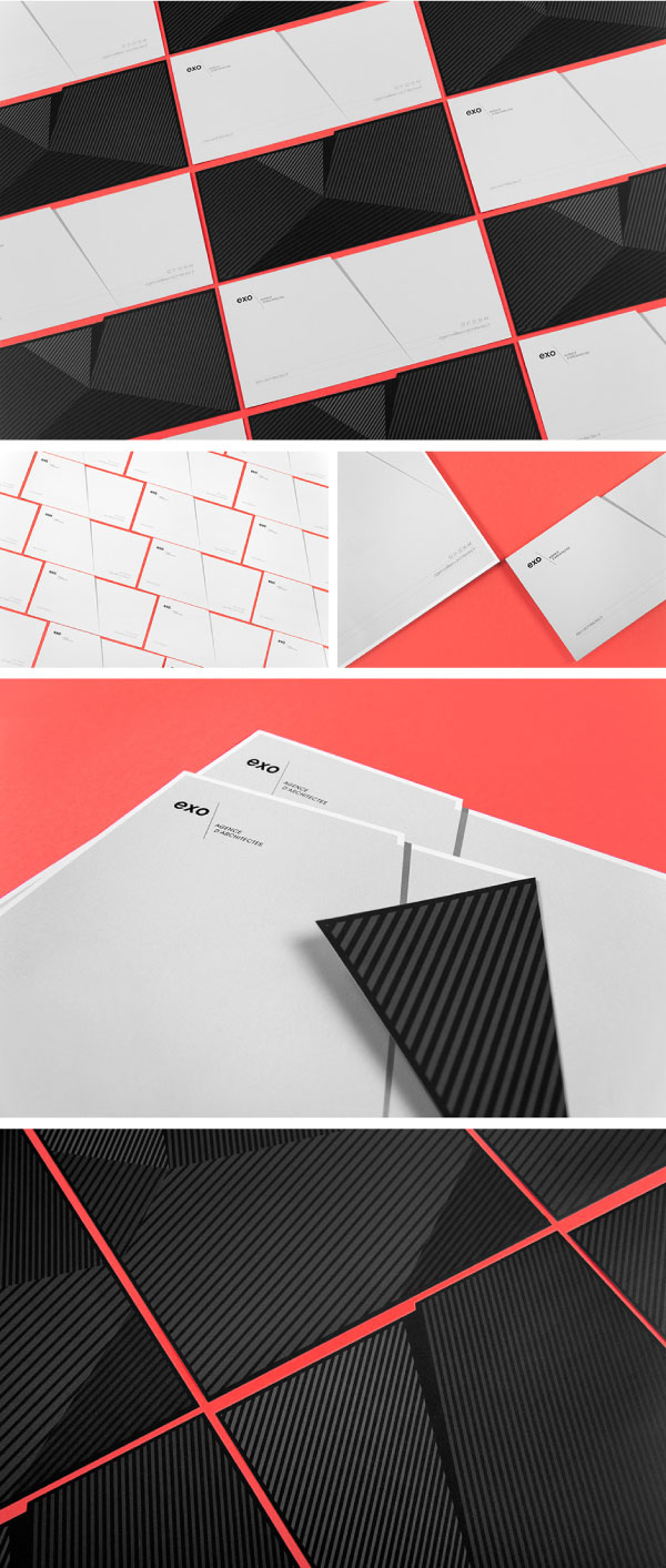 Art direction, branding, and graphic design by Murmure for EXO, a French architectural agency.