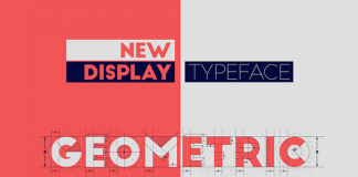 A geometric and modern new display typeface.