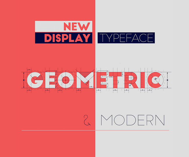 Two free fonts based on a geometric and modern new display typeface.