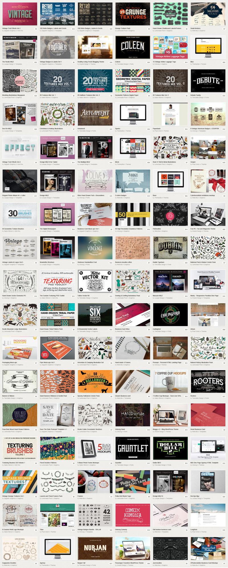 Big Bundle Vol. 2 - The biggest bundle ever from Creative Market.