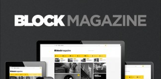 Block Magazine - flat, minimalist and responsive blog theme.