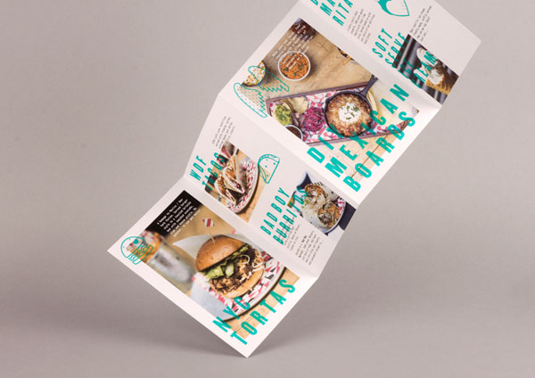 Flyer - restaurant identity design.