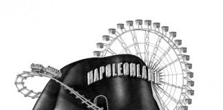 Magazine M le Monde - cover illustration with pencil about the Napoleon mania.
