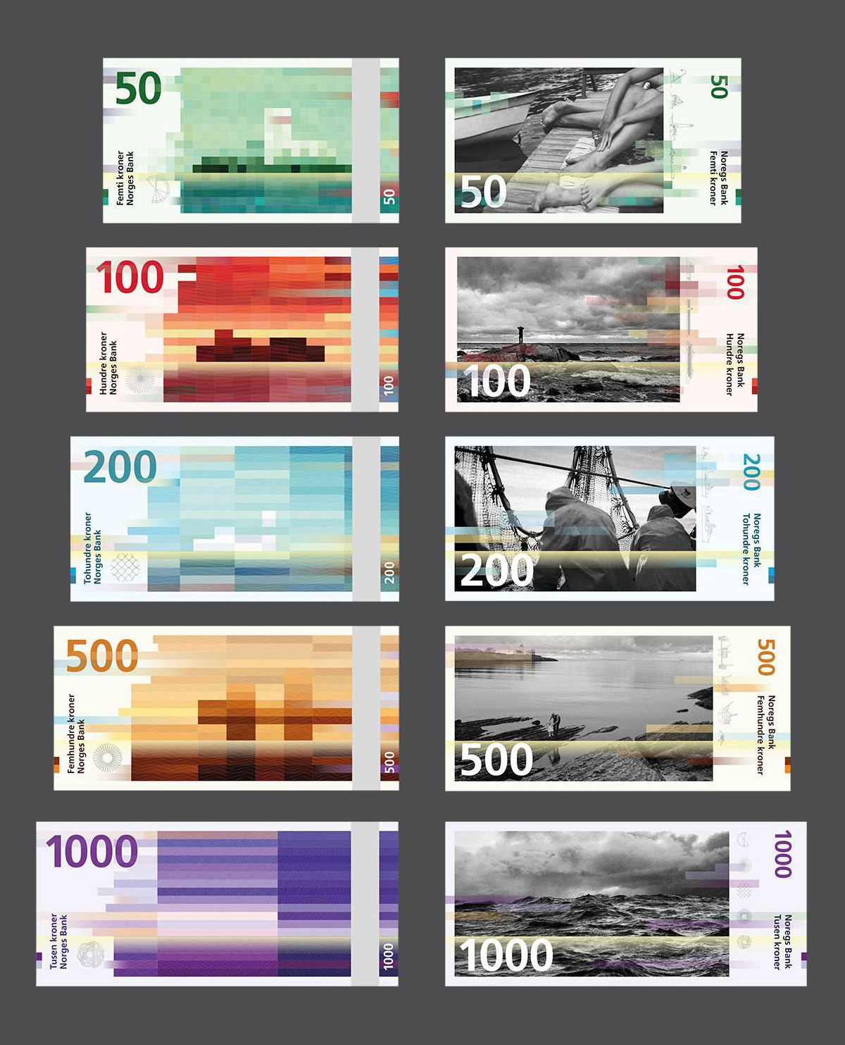 Norway S New Banknotes By Snohetta The Metric System