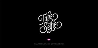 Selfie script font family by Maximiliano Sproviero of Lián Types.