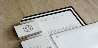 The clean designed stationery set by Fabian Fohrer.
