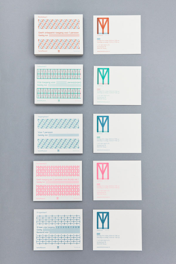 The visual identity is based on simple shapes and patterns.