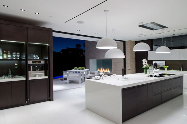 Modern and clean kitchen design.