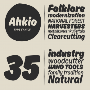 Ahkio - Brushed Font Family from Mika Melvas